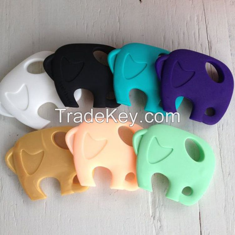 China manufacturer funny baby product 100% food grade silicone baby teether
