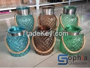 hanging glass jars