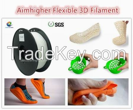 Flexible filament 1.75/3.0m for FDM desktop printer factory price