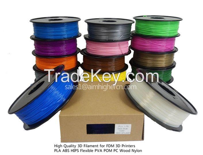 8pcs/lot HIPS filament 8 colors 1.75/3.0m factory price