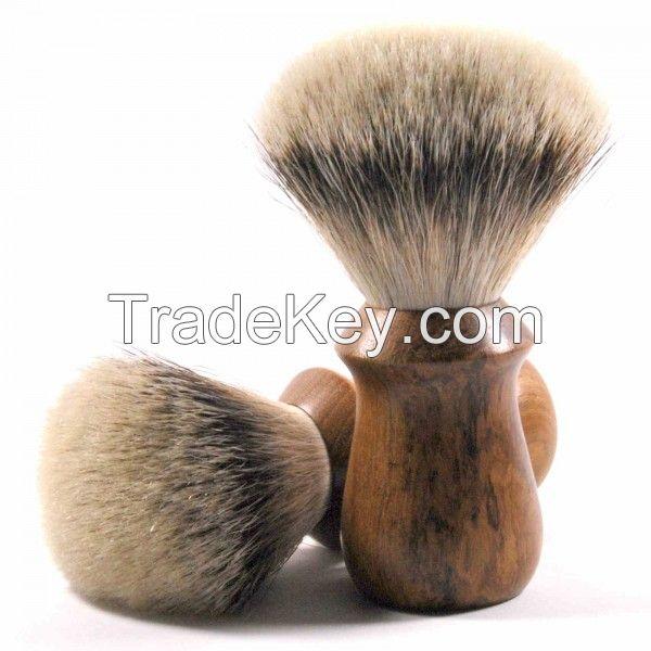 silver tip best pure black badger hair