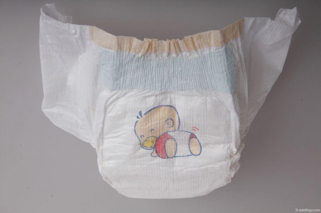 Golden soft baby diapers