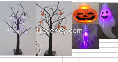 10 LED Halloween spider llights , Lighted Gauze Garland