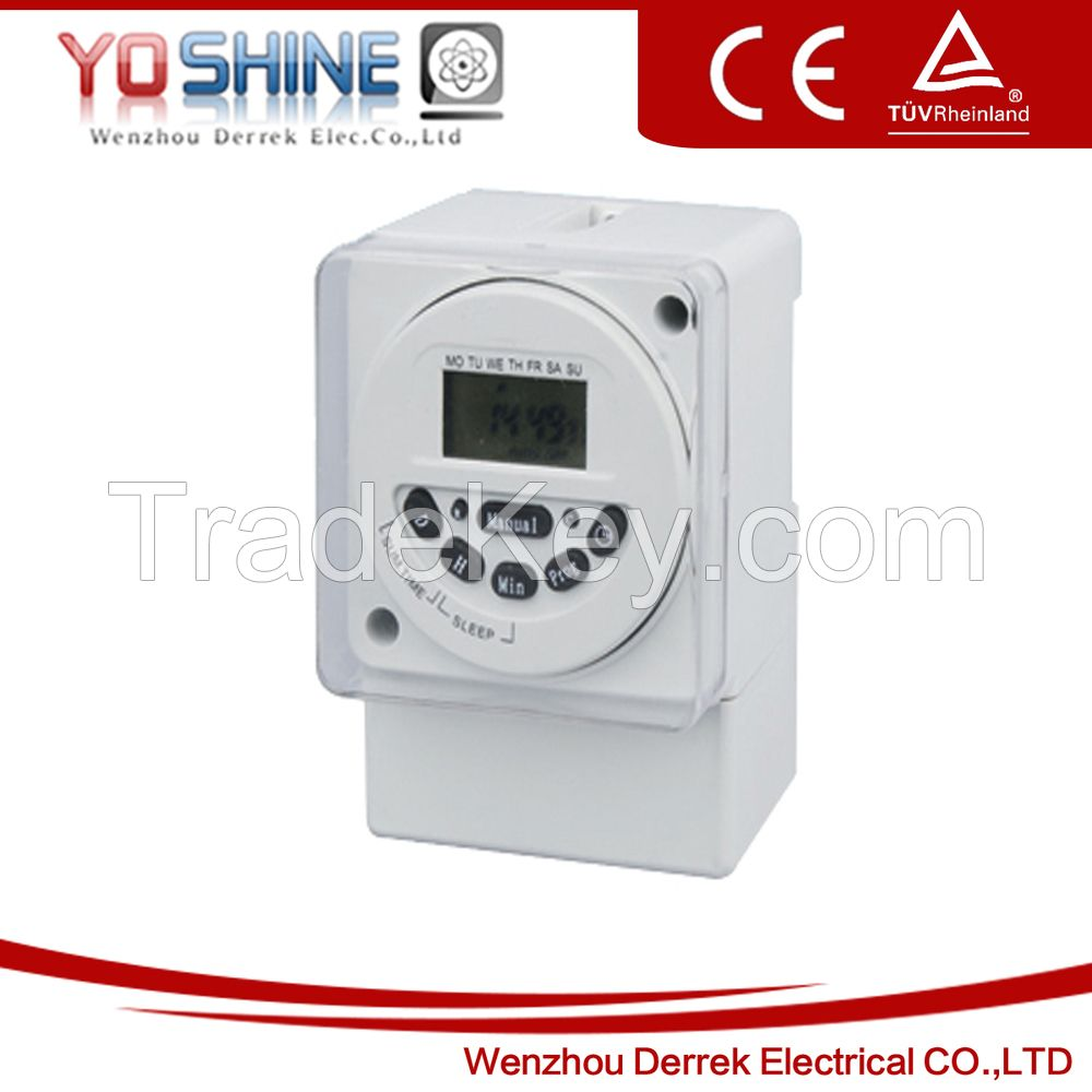 YX190 AC DC Daily and weekly programmable timer