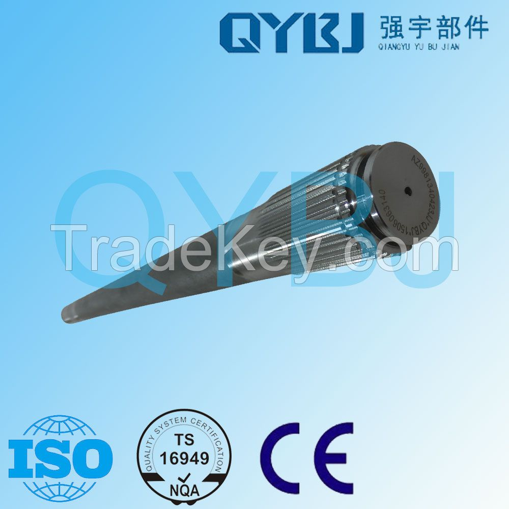 Wholesale professional high hardness 35-40HRC 40 teeth 1104mm tempering 42CrMo high grade steel differential axle AZ9981340423JJ