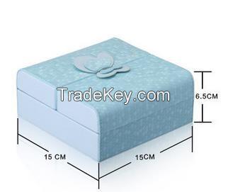 custom high quality leather jewelry box