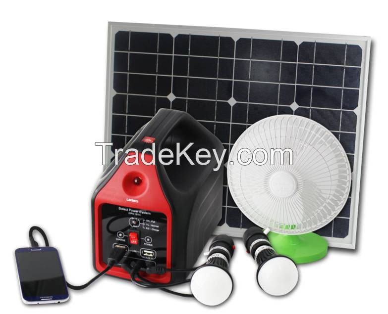 Portable Solar Power Generator with LED Lamp by Solar Energy Solar Panel LED Bulb Solar Power Equipment Portable Outdoor Solar Lantern Emergency Camping Fishing Light