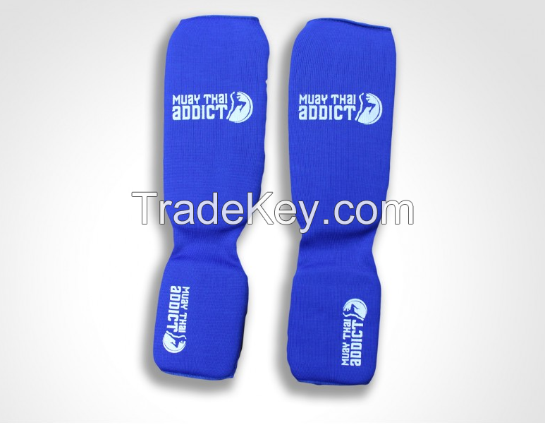 In Step Shin Guards(Blue with White logo)