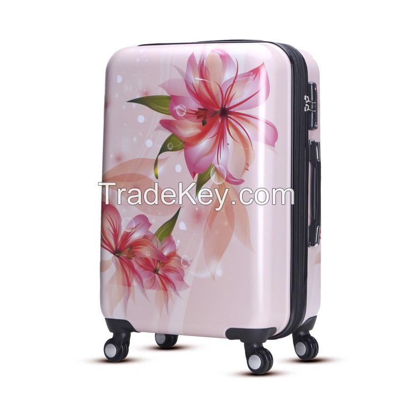 Fashion ABS PC hardshell travel luggage set 55017