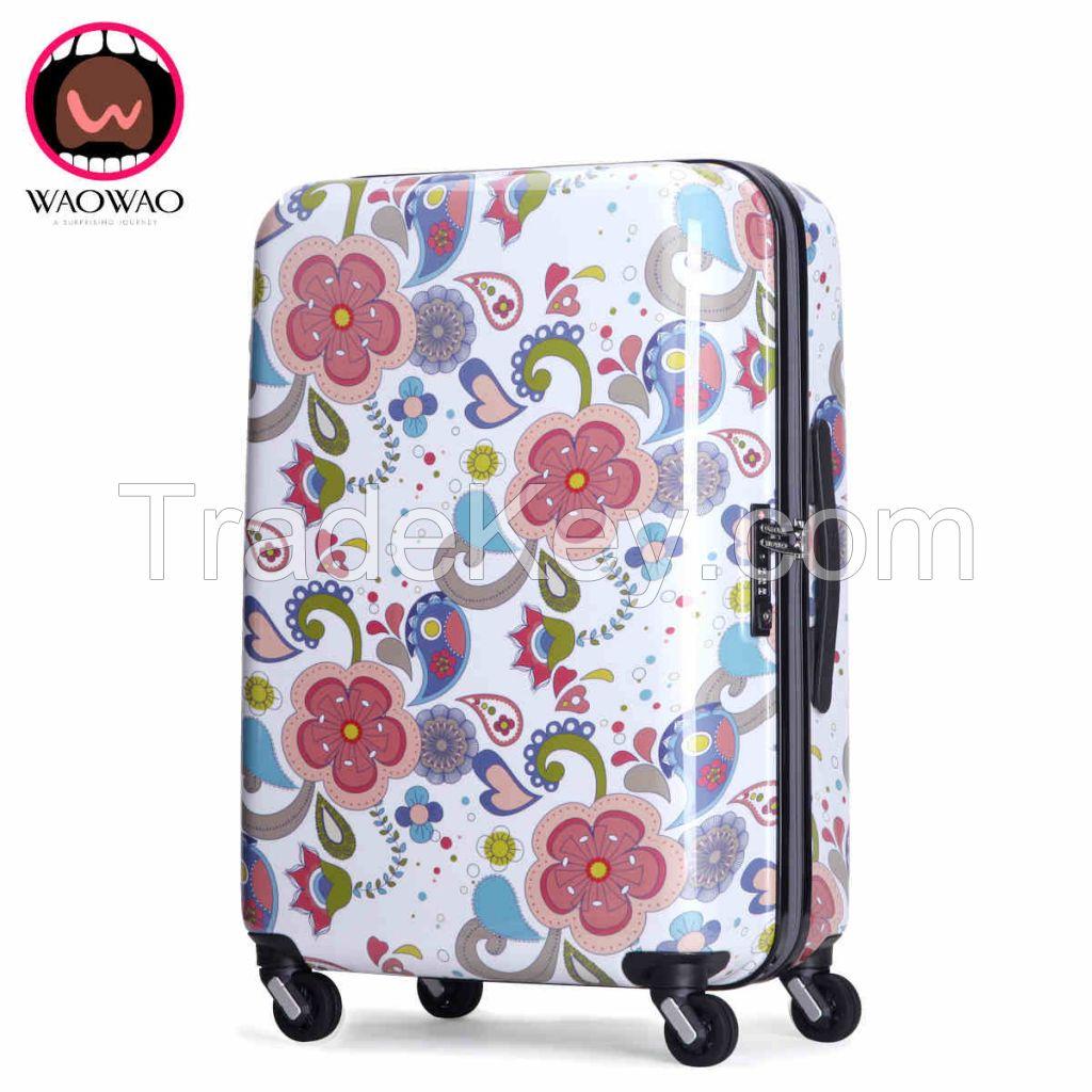 Fashion ABS PC hardshell travel luggage WAO53