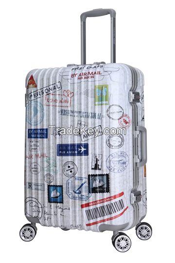 Fashion ABS PC hardshell travel luggage set 8056