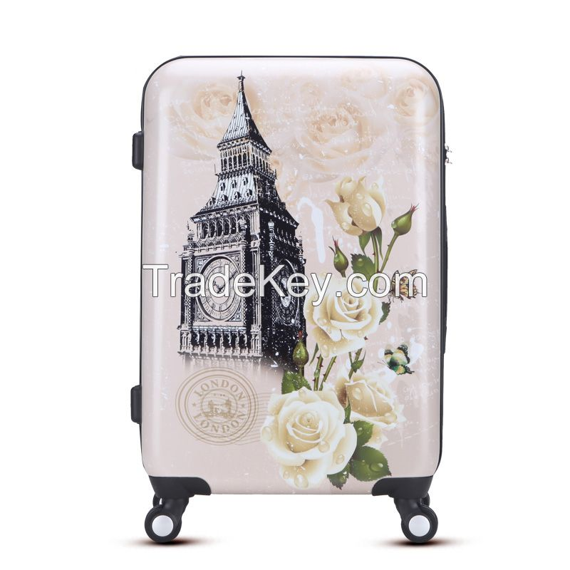 100% new imported abs pc travel luggage sets with TSA lock
