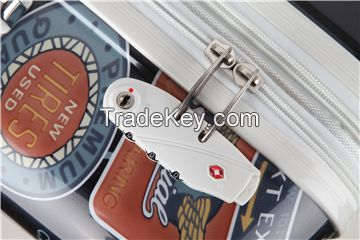 Spinner wheel hardside abs pc suitcase set for traveling