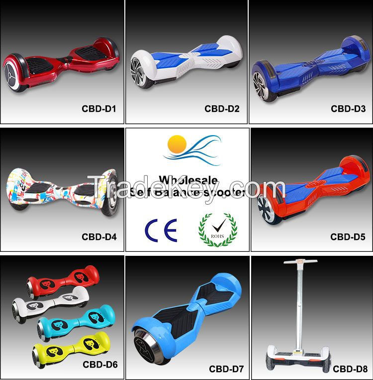 2 wheels hands control self balancing scooter electric hover board/skateboard