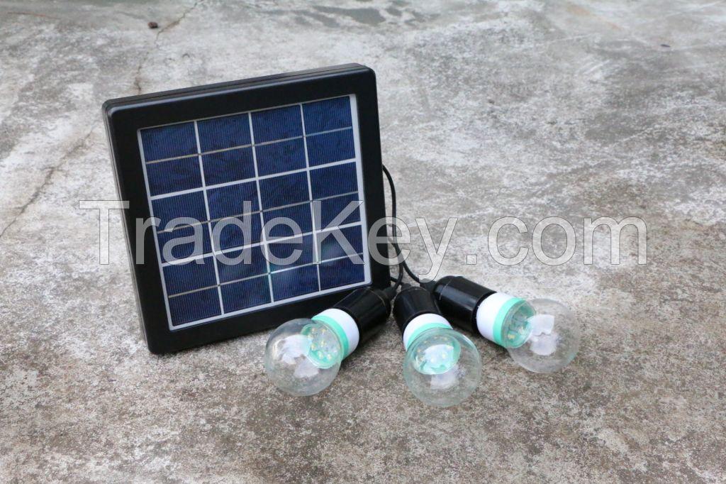 Solar Lamp in 2 bulbs or 3 bulbs Solar LED Lighting Indoor Tiree Bulb Max Running Time 30hours Solar Lamp Luminaria Solar Lantern Dimming Bulb Camping Light