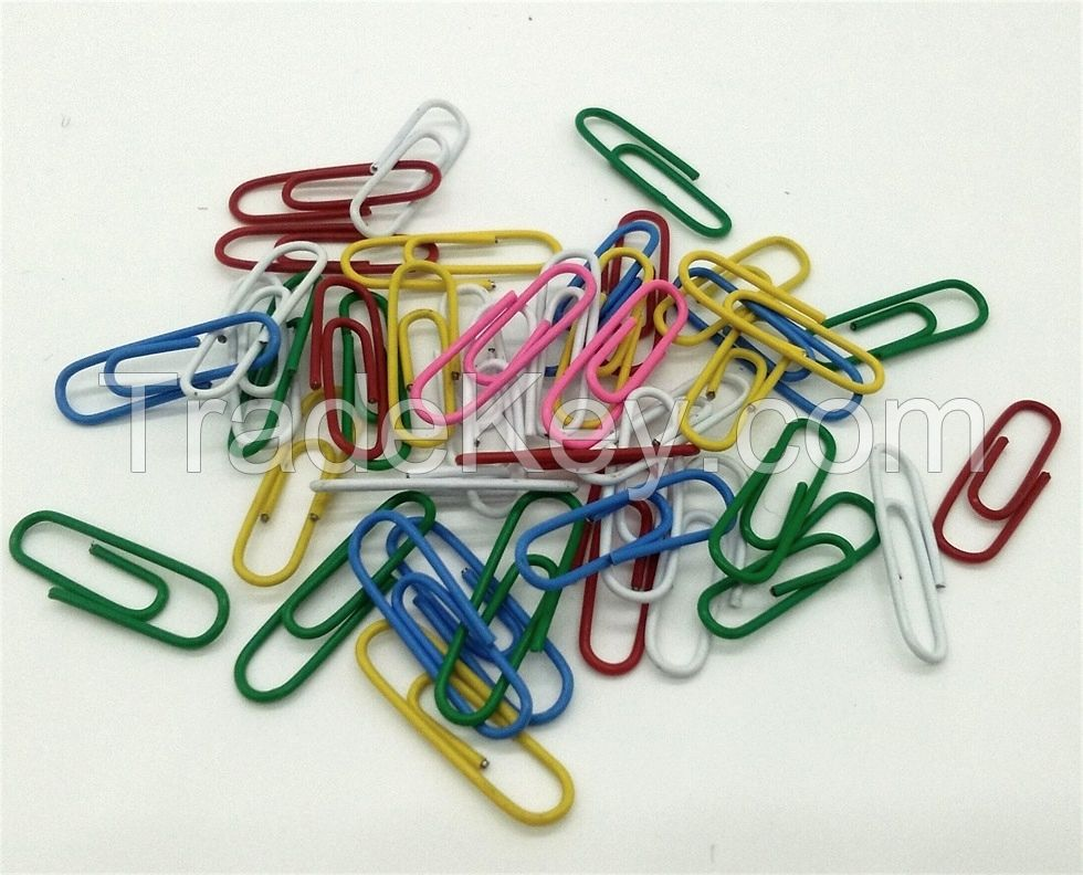 Basic colored paper clips, metal binder clips, low price made in China