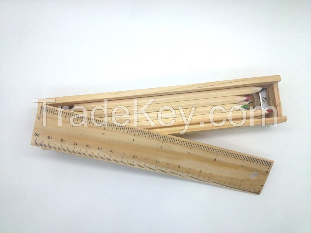 high quality nature color wooden pencils HB with or without eraser head
