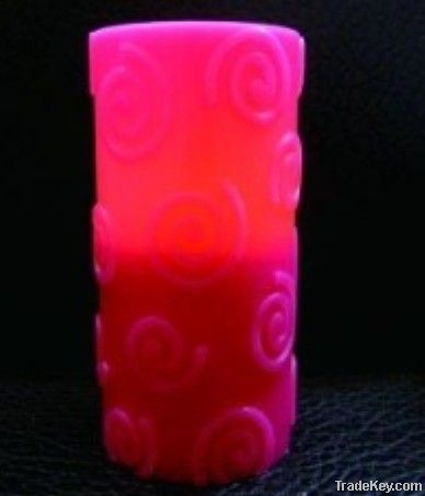 LED flameless wax candle