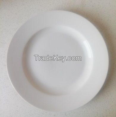 Round dinner plate durable porcelain for home and hotel different size