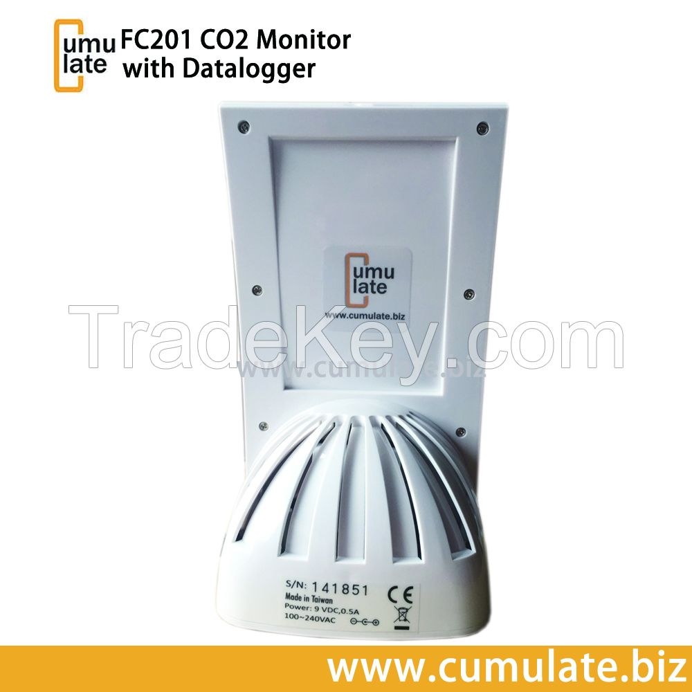 CUMULATE FC201 Carbon Dioxide Thermo-hygro Desktop Datalogging Air Quality Monitor