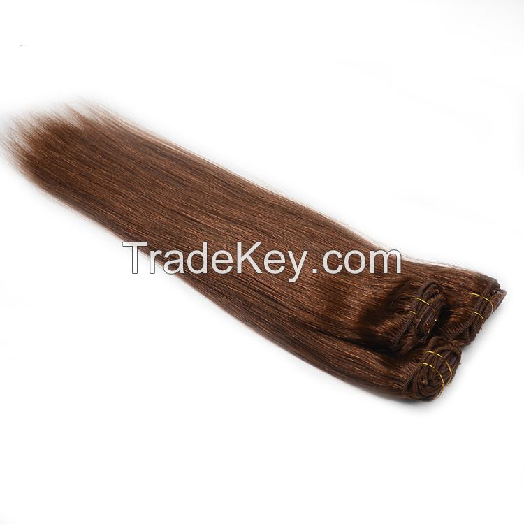 2016 New Arrivel Most Popular Hair Products Can Be Customized Cheap 100% Human Hair Clip In Hair Extension