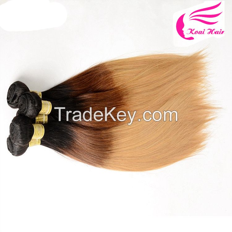 OEM Accepted 7a 100 Human Hair Remy Human Hair Weaving, 100% human ombre hair braiding hair