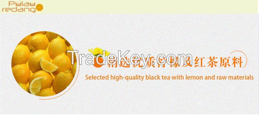 Instant lemon black tea drink