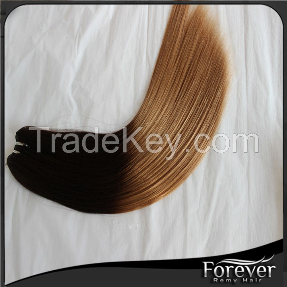 2016 Forever factory real remy hair weave 18in 120g  big ins tock,can be fast shipping hair extension