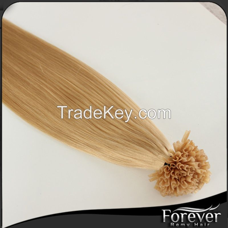 Forever best quality hair extensions nail tip hair  18in 0.8g/s colors in stock