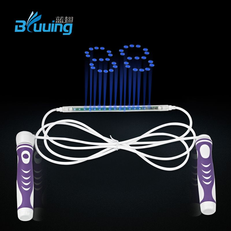 Patent protected 2015 new design high quality kids smart electronic LED digital count skipping jump rope