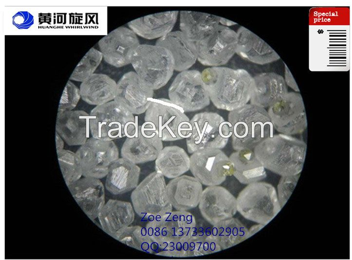 Artificial HPHT synthetic rough diamond