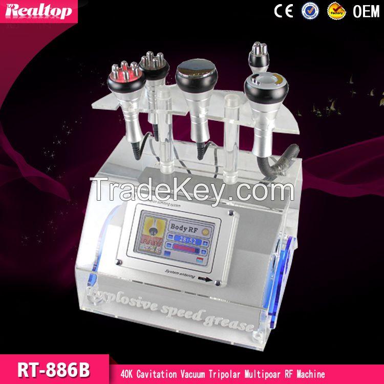 5 in 1 40K Ultrasonic Cavitation Vacuum RF Tripolar RF Skin Care Slimm