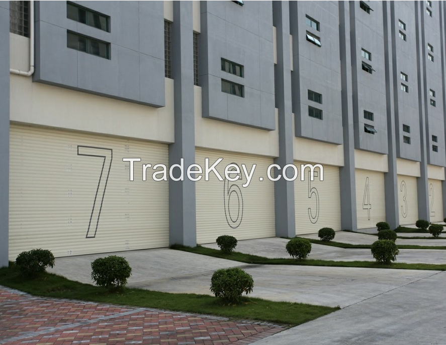 Double aluminum gate Dustproof guard against theft Special offer direct electric remote control garage door manufacturer