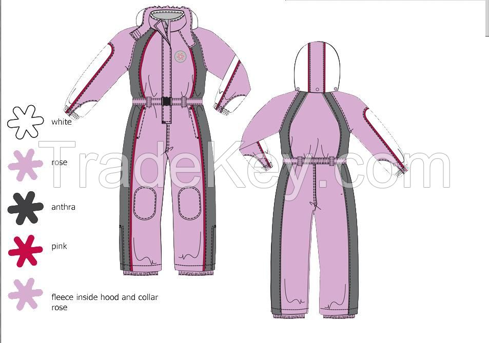 new style custom fashion Waterproof Children Kids Ski Suit  ski overall