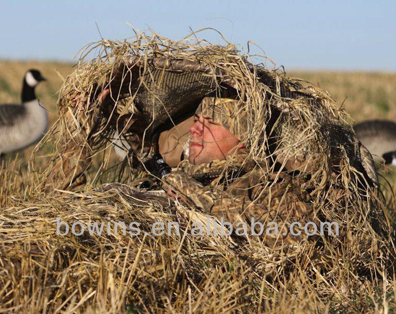 Folding camo ground hunting blinds