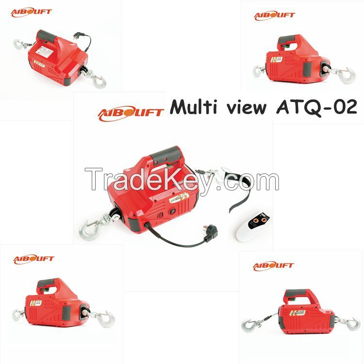Portable electric winch 450kg with remote