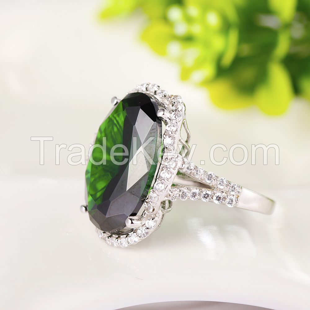 Wholesale Round Heart Signity CZ Jewelry 925 Silver Ring