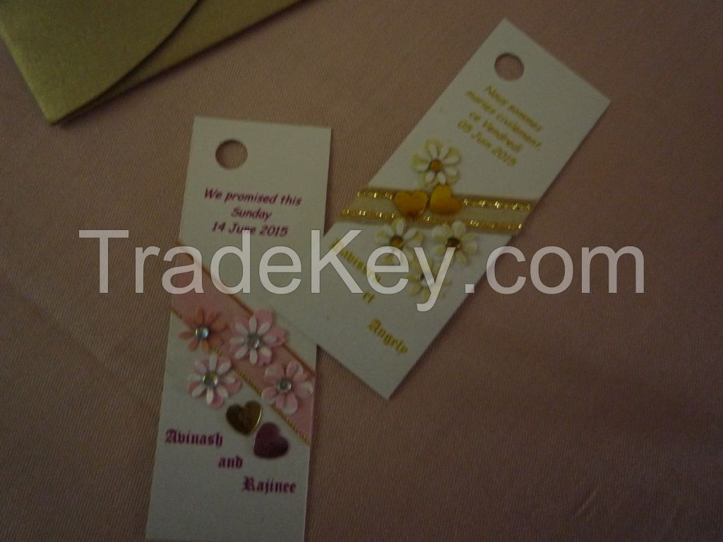 Handmade cards and enveloppes for all occasions