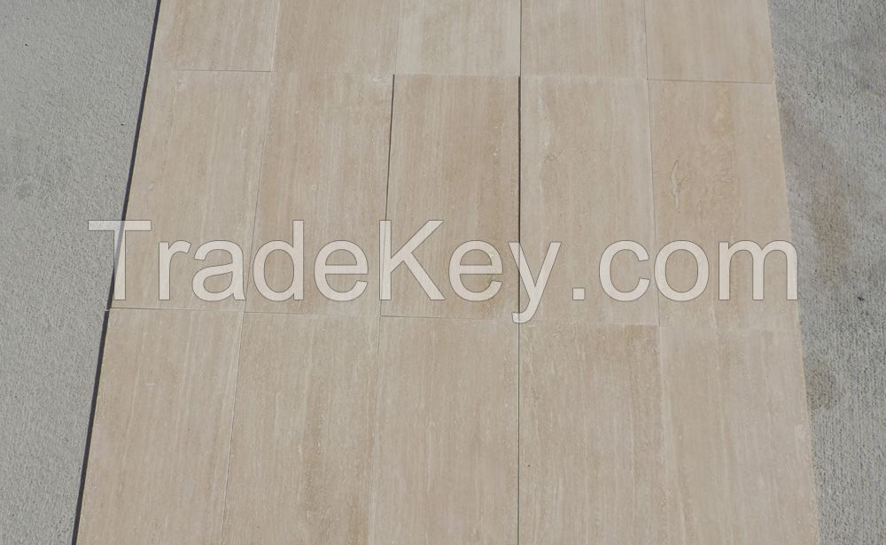 Light Vein Cut Filled Honed Travertine