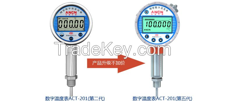 temperature gauge / temperature transmitter for industrial use