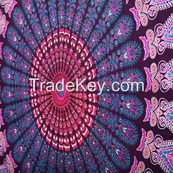 Twin Indian Mandala Bedspread Tapestry Wall Hanging Hippie bohemian Ethnic Throw.