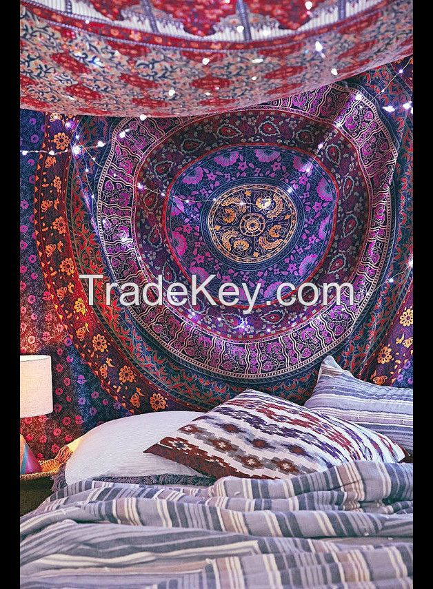 WALL DECOR HIPPIE TAPESTRIES BOHEMIAN MANDALA TAPESTRY WALL HANGING INDIAN THROW.