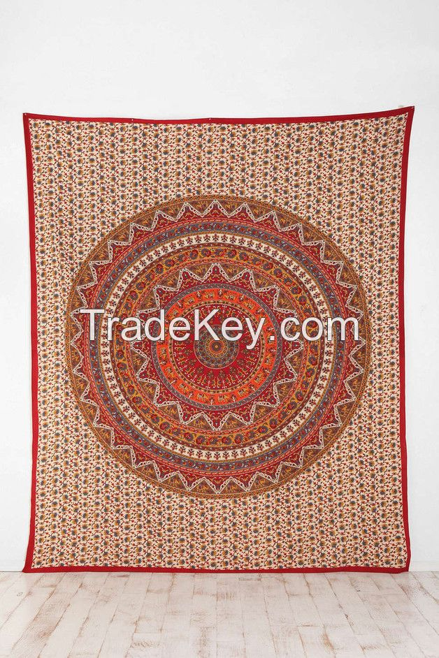 Indian Star Mandala Hippie Tapestry Bedspread Dorm