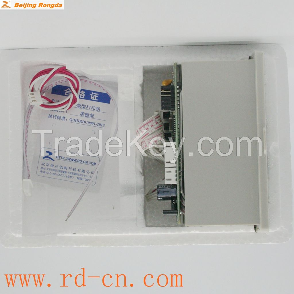RD-D panel embedded micro thermal printer with TTL, RS232, 485, Parallel port, Serial Port interface