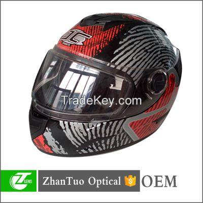 Hot selling matt black double visors flip up motorcycle helmet popular and cheap