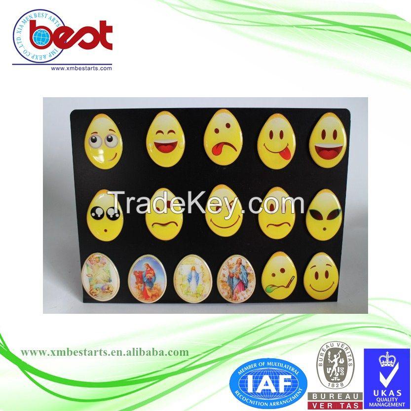 2016 New design custom 3d emoji fridge magnets