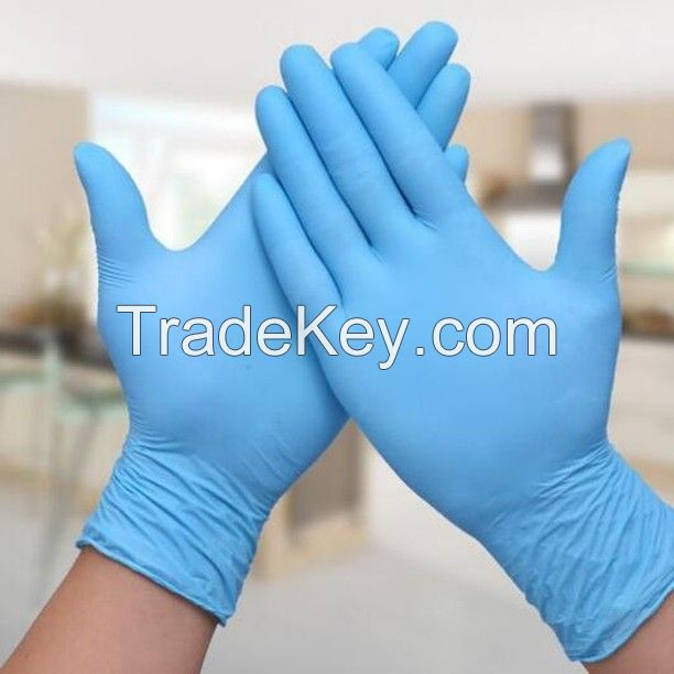 100 PCS Gloves Nitrile Exam Gloves with Textured Fingertips, Latex Free, Powder Free, Disposable Attractive Price Blue Disposable Nitrile Gloves
