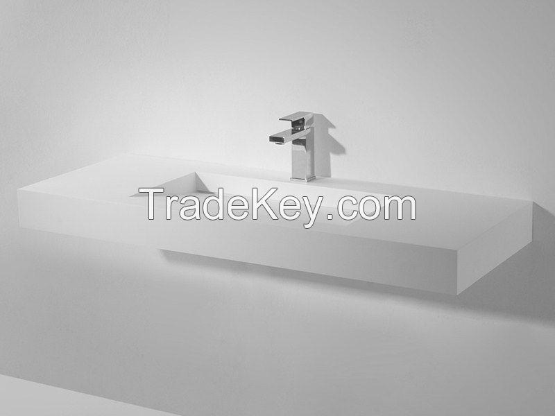 acrylic solid surfaces washbasins hotel matrix 180 cm.
