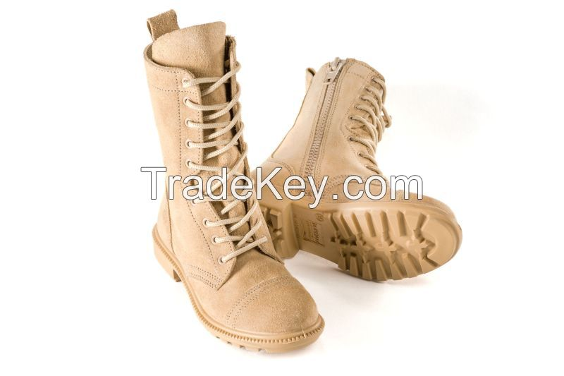 BURG832 Cross-over Suede Desert Combat Boots