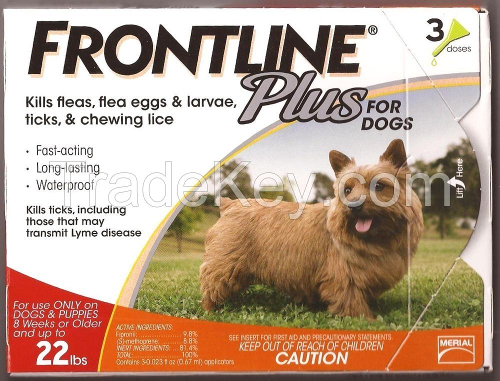 Frontline Plus for Pest and Ticks Control small dogs 5-23lbs